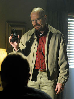 In this image released by AMC, Bryan Cranston portrays Walter White in a scene from &#34;Breaking Bad.&#34; Cranston was nominated Thursday, Dec. 13, 2012 for a Golden Globe for best actor in a drama series for his role in the series. The 70th annual Golden Globe Awards will be held on Jan. 13. &#40;AP Photo&#47;AMC, Ursula Coyote&#41; <span class=meta>(AP Photo&#47; Ursula Coyote)</span>