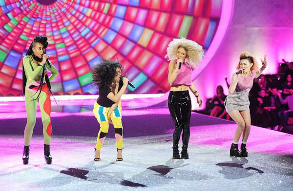 British girl group Neon Jungle, from left, Amira McCarthy, Shereen Cutkelvin, Jess Plummer and Asami Zdrenka perform during the 2013 Victoria&#39;s Secret Fashion Show at the 69th Regiment Armory on Wednesday, Nov. 13, 2013, in New York. &#40;Photo by Evan Agostini&#47;Invision&#47;AP&#41; <span class=meta>(Photo&#47;Evan Agostini)</span>
