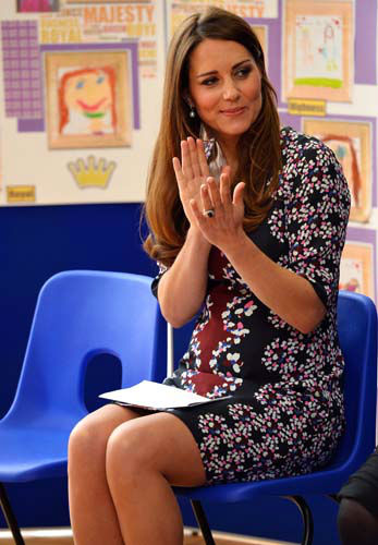 The Duchess of Cambridge listens to speeches at The Willows Primary School, Wythenshawe, Manchester, England, where she launched a new school counselling programme, Tuesday April 23, 2013. &#40;AP Photo&#47;Paul Ellis, Pool&#41; <span class=meta>(AP Photo&#47; Paul Ellis)</span>