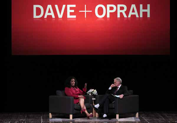 "<div class=""meta image-caption""><div class=""origin-logo origin-image ""><span></span></div><span class=""caption-text"">Ball State University alumnus David Letterman, right, host of CBS's ""Late Show,"" interviews  Oprah Winfrey at Ball State University in Muncie, Ind., Monday, Nov. 26, 2012. The conversation is part of the David Letterman Distinguished Professional Lecture and Workshop Series. (AP Photo/Michael Conroy) (AP Photo/ Michael Conroy)</span></div>"