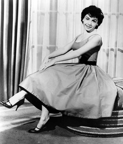 "<div class=""meta image-caption""><div class=""origin-logo origin-image ""><span></span></div><span class=""caption-text"">Walt Disney studio's new star, 16-year-old  Annette Funicello, is posing in this January 1959 photo, at Idlewild Airport in New York.  (AP Photo) (AP Photo/ XCB)</span></div>"