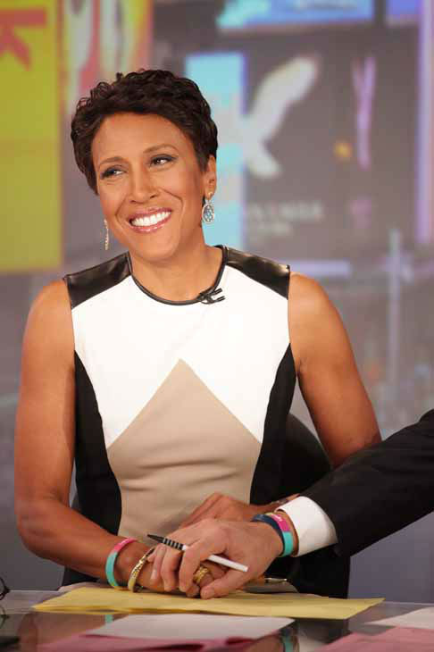 "<div class=""meta image-caption""><div class=""origin-logo origin-image ""><span></span></div><span class=""caption-text"">This image released by ABC shows ""Good Morning America"" co-host Robin Roberts on the popular morning show on Thursday, Aug. 30, 2012 in New York. Roberts has said goodbye to ""Good Morning America,"" but only for a while. The ""GMA"" anchor made her final appearance Thursday before going on medical leave for a bone marrow transplant. Roberts' departure was first planned for Friday, but she chose to exit a day early to visit her ailing mother in Mississippi. In July she first disclosed that she has MDS, a blood and bone marrow disease. She will be hospitalized next week to prepare for the transplant. The donor will be her older sister, Sally-Ann Roberts. (AP Photo/ABC, Fred Lee) (AP Photo/ Fred Lee)</span></div>"