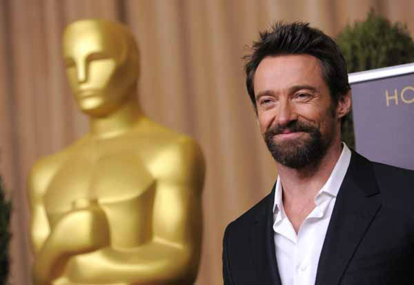 Hugh Jackman, nominated for best actor in a leading role for &#34;Les Miserables,&#34; arrives at the 85th Academy Awards Nominees Luncheon at the Beverly Hilton Hotel on Monday, Feb. 4, 2013, in Beverly Hills, Calif. &#40;Photo by Chris Pizzello&#47;Invision&#47;AP&#41; <span class=meta>(Photo&#47;Chris Pizzello)</span>
