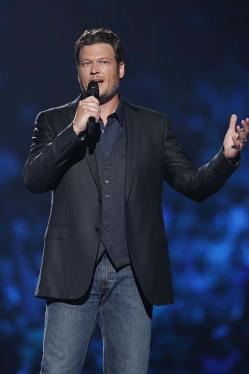 This image released by NBC Universal shows country singer Blake Shelton during the Healing in the Heartland: Relief Benefit Concert at the Chesapeake Energy Arena in Oklahoma City, Okla., Wednesday, May 29,2013. Funds raised by the benefit will go to the United Way of Central Oklahoma, for recovery efforts for those affected by the May 20 tornado. &#40;AP Photo&#47;NBC, Trae Patton&#41; <span class=meta>(AP Photo&#47; Trae Patton)</span>