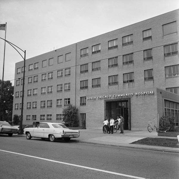 This institution, South Chicago Community Hospital, shown July 14, 1966, is where eight student nurses who were slain, worked and attended classes. The hospital is one mile from townhouse where girls lived. &#40;AP Photo&#41; <span class=meta>(AP Photo&#47; IP KP, GP. KEY A1, D. XMB)</span>