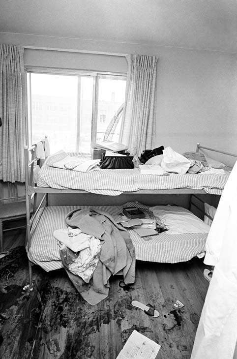 "<div class=""meta ""><span class=""caption-text "">Blood spatters floor in one of the bedrooms where eight girls were slain, July 14, 1966 in Chicago's far South Side. The sole survivor, Corazon Amurao, an exchange student nurse from the Philippines, climbed out of window in background and screamed, ""All my friends are dead. Help! Help! I?m the only one alive."" (AP Photo) (AP Photo/ IP ST, GP. KEY R3, RE. XMB)</span></div>"