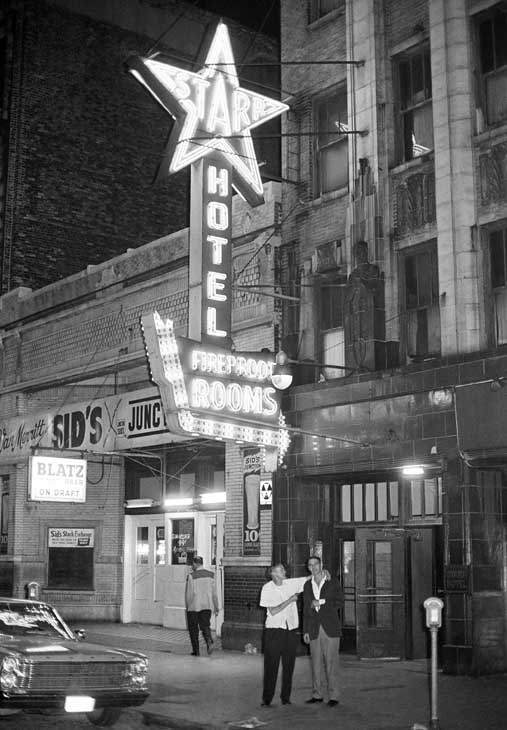 Richard Speck, suspect sought in connection with slaying of eight nurses in Chicago, was found in this transient hotel in Chicago&#39;s skid row, July 17, 1966. &#40;AP Photo&#41; <span class=meta>(AP Photo&#47; DP)</span>