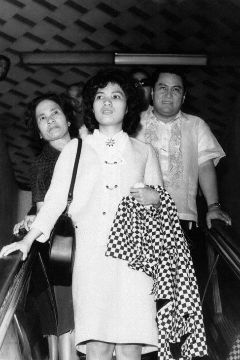 Corazon Amurao, lone survivor of the July 14, 1966, massacre of eight nurses in Chicago, arrived home, April 29, 1967, accompanied by her mother, Mrs. Macaria Amurao. Miss Amurao was met at the Manila international Airport by relatives and friends who accompanied her to her hometown of Durungao, San Luis, in Batangas province, south of Manila. &#40;AP Photo&#47;Philippines News Service&#47;Luis Perez&#41;  <span class=meta>(AP Photo&#47; Luis Perez)</span>