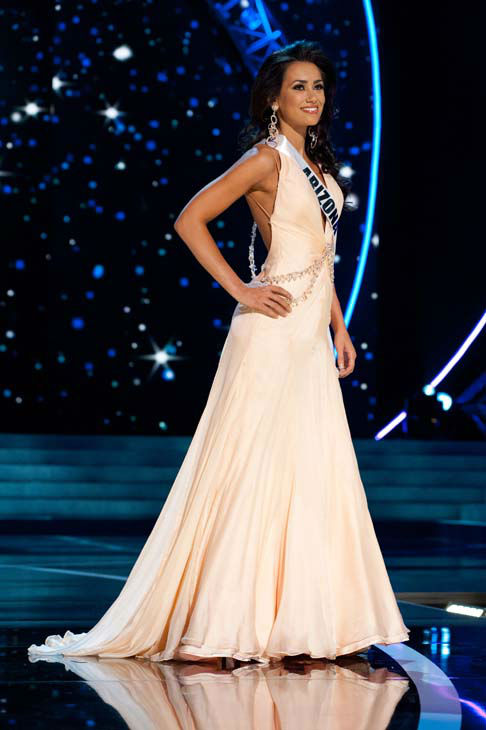 This photo provided by the Miss Universe Organization, Miss Arizona USA 2013, Rachel Massie competes in her evening gown during the 2013 Miss USA Competition Preliminary Show  in Las Vegas  on Wednesday June 12, 2013.  She will compete for the title of Miss USA 2013 and the coveted Miss USA Diamond Nexus Crown on June 16, 2013.  &#40;AP Photo&#47;Miss Universe Organization, Patrick Prather&#41; <span class=meta>(AP Photo&#47; Patrick Prather)</span>