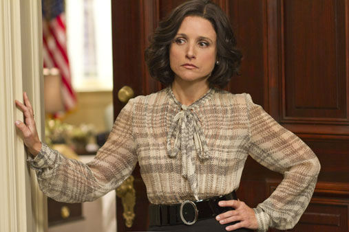 This undated image released by HBO shows Julia Louis-Dreyfus portraying Vice President Selina Meyer in a scene from &#34;Veep.&#34; Louis-Dreyfus was nominated for a Golden Globe for best actress in a comedy series, Thursday, Dec. 13, 2012, for her role in the series.  The 70th annual Golden Globe Awards will be held on Jan. 13.  &#40;AP Photo&#47;HBO, Bill Gray&#41; <span class=meta>(AP Photo&#47; Bill Gray)</span>