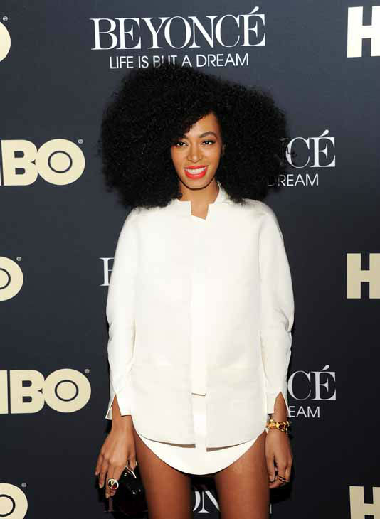 Singer Solange Knowles attend the premiere of &#34;Beyonce: Life Is But A Dream&#34; at the Ziegfeld Theatre on Tuesday, Feb. 12, 2013 in New York. &#40;Photo by Evan Agostini&#47;Invision&#47;AP&#41; <span class=meta>(Photo&#47;Evan Agostini)</span>