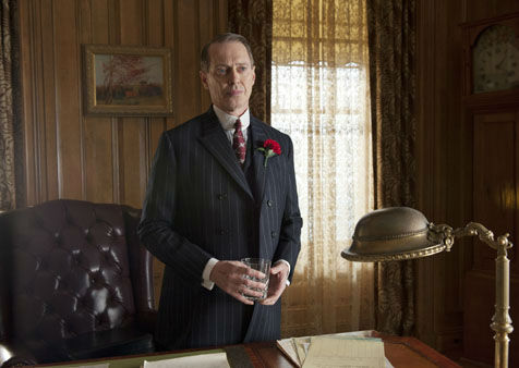 "<div class=""meta ""><span class=""caption-text "">This image released by HBO shows Steve Buscemi in a scene from ""Boardwalk Empire."" Buscemi was nominated Thursday, Dec. 13, 2012 for a Golden Globe for best actor in a drama series for his role in the series. The 70th annual Golden Globe Awards will be held on Jan. 13.(AP Photo/HBO, Macall B. Polay) (AP Photo/ Macall B. Polay)</span></div>"