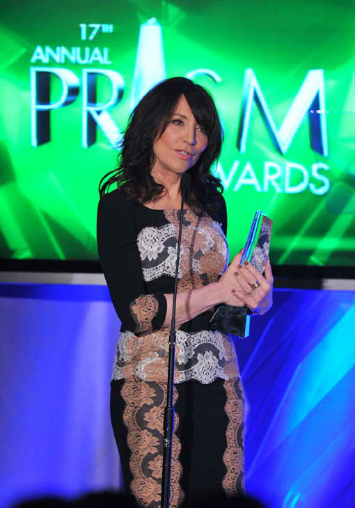 Actress Katey Sagal accepts the award for female performance in a drama series multi-episode storyline at the 17th Annual Prism Awards Ceremony at The Beverly Hills Hotel on Thursday, April 25, 2013, in Beverly Hills, Calif. &#40;Photo by Vince Bucci&#47;Invision&#47;AP&#41; <span class=meta>(Photo&#47;Vince Bucci)</span>