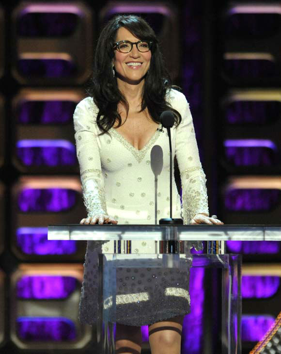 Katey Sagal appears on stage at the Comedy Central &#34;Roast of Roseanne&#34; at the Hollywood Palladium on Saturday, Aug. 4, 2012, in Los Angeles. &#40;Photo by John Shearer&#47;Invision&#47;AP&#41; <span class=meta>(Photo&#47;John Shearer)</span>