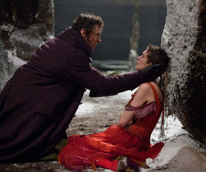 This film image released by Universal Pictures shows Hugh Jackman as Jean Valjean, left, and Anne Hathaway as Fantine in a scene from &#34;Les Miserables.&#34;  The film was nominated for a Golden Globe for best musical or comedy on Thursday, Dec. 13, 2012. The 70th annual Golden Globe Awards will be held on Jan. 13. &#40;AP Photo&#47;Universal Pictures&#41; <span class=meta>(AP Photo&#47; Uncredited)</span>