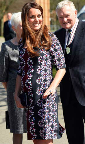 The Duchess of Cambridge arrives at The Willows Primary School, Wythenshawe, Manchester to launch a school counseling programme, Tuesday April 23, 2013. &#40;AP Photo&#47;Paul Ellis, Pool&#41; <span class=meta>(AP Photo&#47; Paul Ellis)</span>