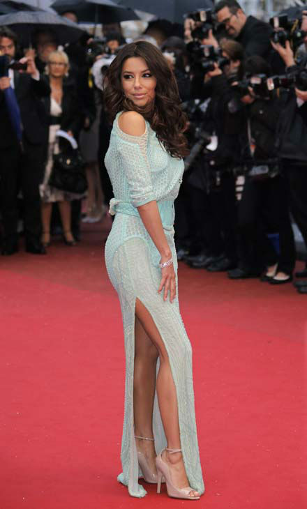 Actress Eva Longoria poses for photographers as she arrives for the screening of the film Jimmy P. Psychotherapy of a Plains Indian at the 66th international film festival, in Cannes, southern France, Saturday, May 18, 2013. &#40;AP Photo&#47;Francois Mori&#41; <span class=meta>(AP Photo&#47; Francois Mori)</span>
