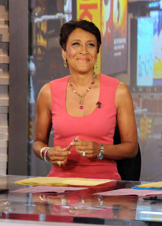 FILE - This Aug. 20, 2012 file photo released by ABC shows co-host Robin Roberts during a broadcast of &#34;Good Morning America,&#34; in New York. Roberts has said goodbye to &#34;Good Morning America,&#34; but only for a while. The &#34;GMA&#34; anchor made her final appearance Thursday, Aug. 30, before going on medical leave for a bone marrow transplant. Roberts&#39; departure was first planned for Friday, but she chose to exit a day early to visit her ailing mother in Mississippi. In July she first disclosed that she has MDS, a blood and bone marrow disease. She will be hospitalized next week to prepare for the transplant. The donor will be her older sister, Sally-Ann Roberts, who was on hand for Thursday&#39;s emotional send-off. &#40;AP Photo&#47;ABC, Donna Svennevik, file&#41; <span class=meta>(AP Photo&#47; Donna Svennevik)</span>