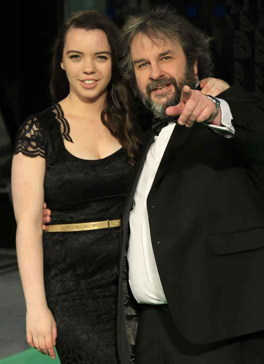 Director Sir Peter Jackson and daughter Katie arrive at the UK premiere of &#34;The Hobbit: An Unexpected Journey&#34; at The Odeon Leicester Square, London on Wednesday, Dec. 12, 2012.  &#40;Photo by Joel Ryan&#47;Invision&#47;AP&#41; <span class=meta>(Photo&#47;Joel Ryan)</span>