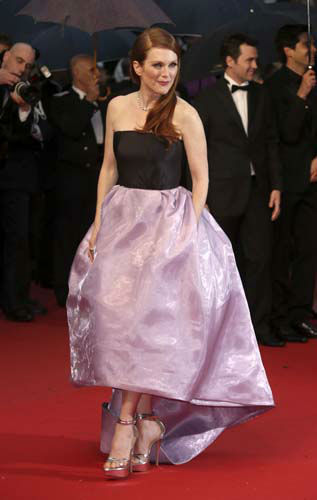 FILE - This May 15, 2013 file photo shows actress Julianne Moore at the opening ceremony and the screening of &#34;The Great Gatsby&#34; at the 66th international film festival, in Cannes, southern France. &#40;Photo by Joel Ryan&#47;Invision&#47;AP, file&#41; <span class=meta>(AP Photo&#47; Joel Ryan)</span>