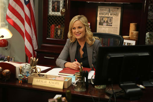 This image released by NBC shows Amy Poehler in a scene from &#34;Parks &amp; Recreation.&#34; Poehler was nominated Thursday, Dec. 13, 2012 for a Golden Globe for best actress in a comedy series for her role in ? Parks &amp; Recreation.? The 70th annual Golden Globe Awards will be held on Jan. 13  <span class=meta>(AP Photo&#47;NBC, Dean Hendler)</span>
