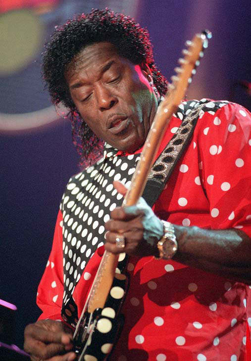 The bluesman Buddy Guy on stage during the Blues Summit at the 32th Montreux Jazz Festival in Montreux, Switzerland, on Tuesday, July 7, 1998. &#40;AP Photo&#47;KEYSTONE&#47;Patrick Aviolat&#41; <span class=meta>(AP Photo&#47; PATRICK AVIOLAT)</span>