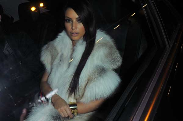 Kim Kardashian arrives to Kanye West presentation for Women&#39;s Fall-Winter, ready-to-wear 2013 fashion collection, during Paris Fashion week, Tuesday, March 6, 2012. <span class=meta>( AP Photo&#47;Zacharie Scheurer)</span>