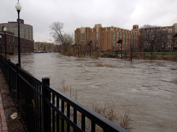 Viewer photo: Chicago River as seen from North Park University in Chicago.