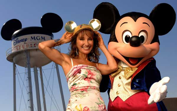 In this photo provided by Walt Disney World, Actress Susan Lucci of ABC Daytime&#39;s popular soap opera, &#34;All My Children,&#34; poses with Mickey Mouse to kick off the 10th annual ABC Super Soap Weekend at the Disney-MGM Studios in Lake Buena Vista, Fla., Friday, Nov. 11, 2005.  <span class=meta>(&#40;AP Photo&#47;Walt Disney World, Mark Ashman&#41;)</span>