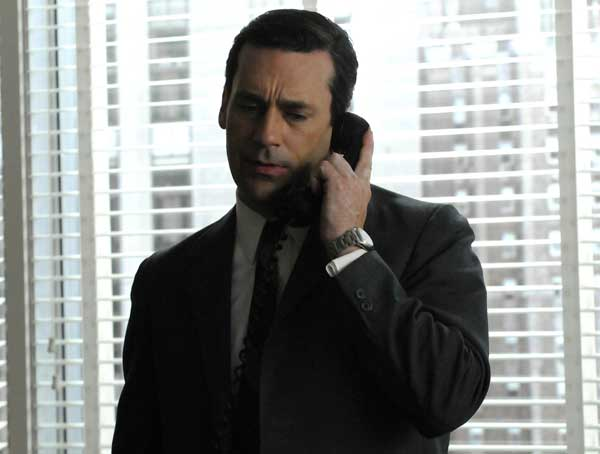 "<div class=""meta ""><span class=""caption-text "">In this undated publicity image released by AMC, Jon Hamm portrays Don Draper in a scene from the AMC series, ""Mad Men.""  (AP Photo/AMC)</span></div>"