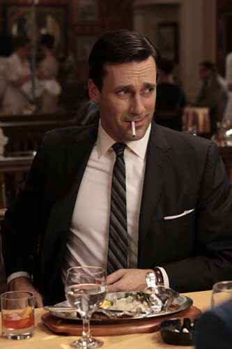 "<div class=""meta ""><span class=""caption-text "">In this publicity image released by AMC, Jon Hamm portrays Don Draper in the AMC series, ""Mad Men."" ( AP Photo/AMC)</span></div>"