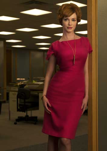 "<div class=""meta ""><span class=""caption-text "">In this image released by AMC, Christina Hendricks stars as Joan Holloway in the AMC original series, ""Mad Men.""  (AP Photo/AMC, Frank Ockenfels)</span></div>"