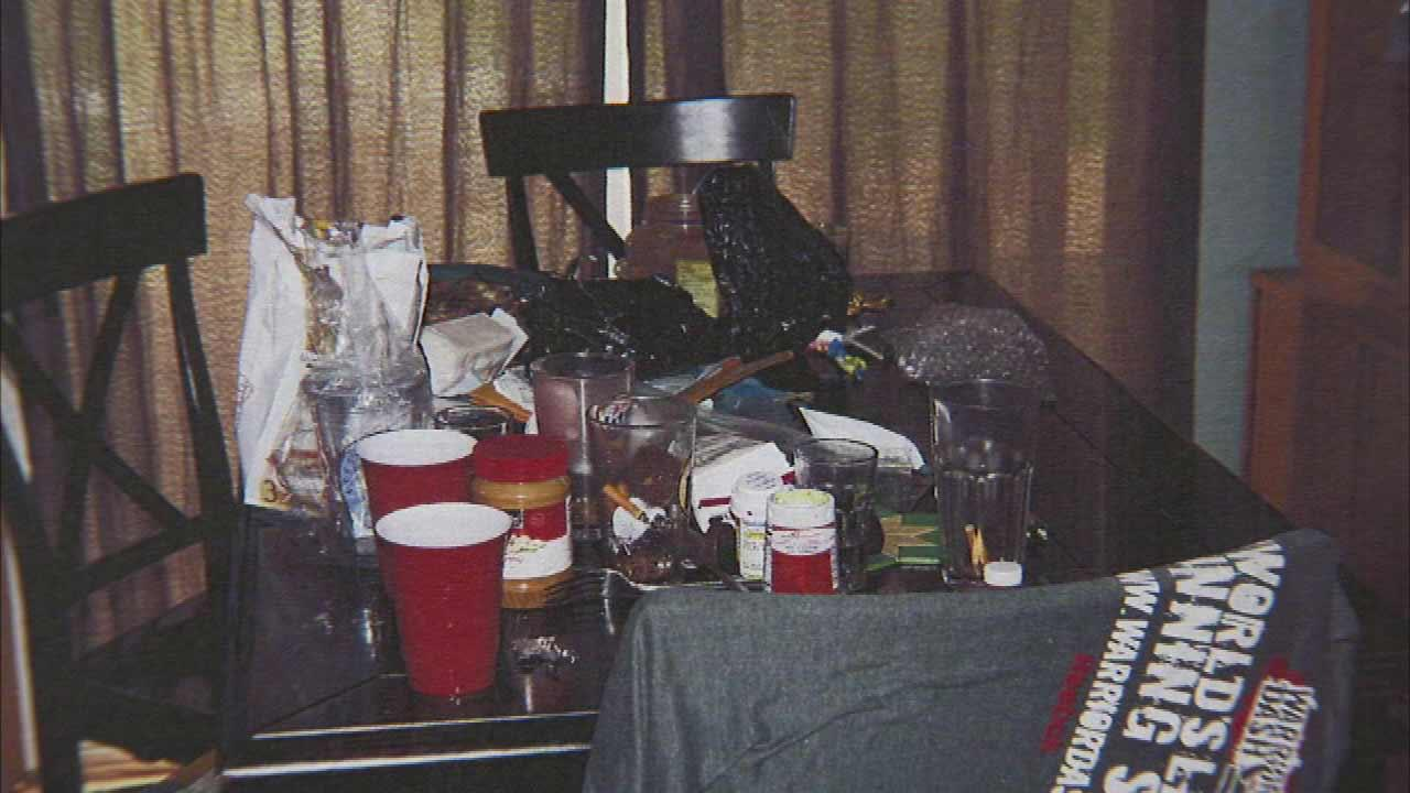 A local familys vacation was ruined because while they were out of town, police say, teens turned their home into a drug-fueled party house.