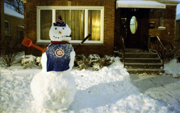 Clare, Brooke, & Connor had fun making a Cubs snowman. Send your snow photos to USeeIt@abc7chicago.com