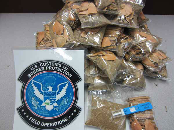 &#34;The 53 bags of opium saturated twigs and wood shavings had a combined weight of 4.84 pounds, valued at &#36;76,707. The shipment was destined for an address in Minnesota.&#34; &#40;Info from US Customs press release&#41; <span class=meta>(CBP)</span>