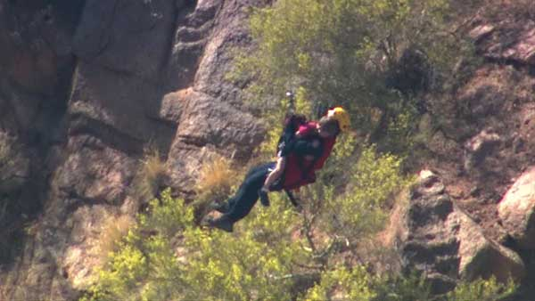 "<div class=""meta ""><span class=""caption-text "">A Chicago man and his 5-year-old son were airlifted from Camelback Mountain in Arizona after they got lost on Cholla Trail. (WLS Photo)</span></div>"