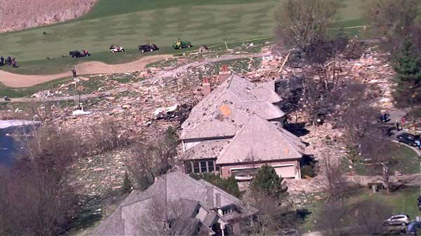 "<div class=""meta ""><span class=""caption-text "">A home exploded and caught fire in Long Grove late Friday, April 25, 2014. That house was leveled, and 50 others in the area were damaged</span></div>"