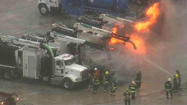 "<div class=""meta image-caption""><div class=""origin-logo origin-image ""><span></span></div><span class=""caption-text"">Three semis caught fire in the parking lot of the BP Amoco plant in Hammond, Ind.  (WLS Photo)</span></div>"