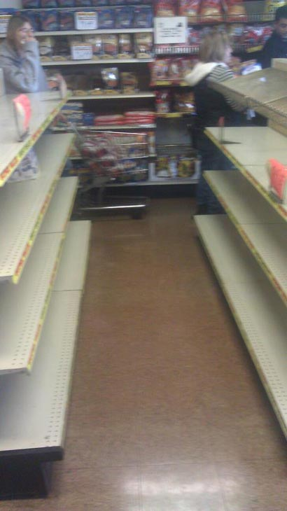 "User-submitted photo, via Facebook: ""The Hostess Outlet in River Grove at 10am this morning."" Fans of Twinkies, HoHos, Suzy Q's and other Hostess products are stocking up now after the company announced it has filed a motion with the U.S. Bankruptcy Court seeking permission to close its business and sell its assets, Friday, Nov. 16, 2012. E-mail your photos to useeit@abc7chicago.com"
