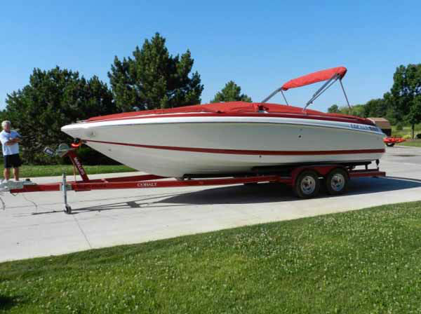 "1998 Cobalt 25LS Boat w/ trailer Starts & Runs. 122 hours ""United States of America v. Rita A Crundwell"" Mileage: 122 hours"