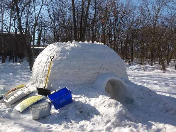 "<div class=""meta image-caption""><div class=""origin-logo origin-image ""><span></span></div><span class=""caption-text"">Linda Seguin said her son, Sean, and friends started building the igloo in December.  (WLS Photo/ Linda Seguin)</span></div>"