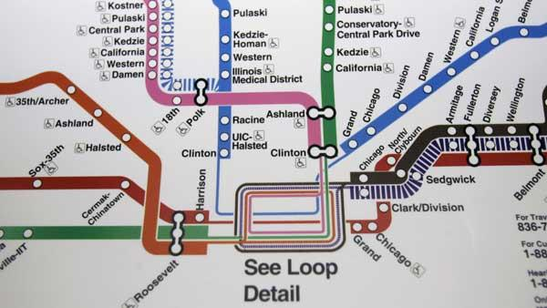 Image of the CTAs train system. (AP Photo).