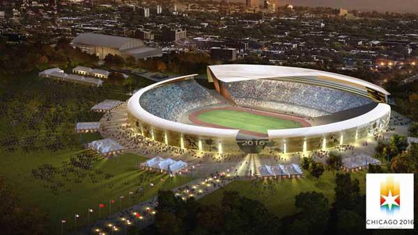 An artists rendering of the Chicago 2016 stadium. Provided by Chicago 2016
