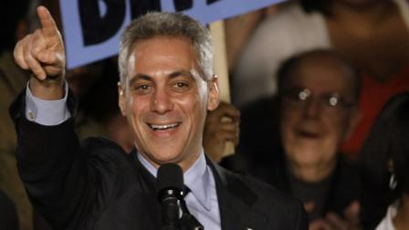 FILE: Former White House Chief of Staff Rahm Emanuel speaks at his election night party Tuesday, Feb. 22, 2011 in Chicago. Emanuel was elected mayor of Chicago Tuesday, easily overwhelming five rivals to take the helm of the nations third-largest city as it prepares to chart a new course without the retiring Richard M. Daley.