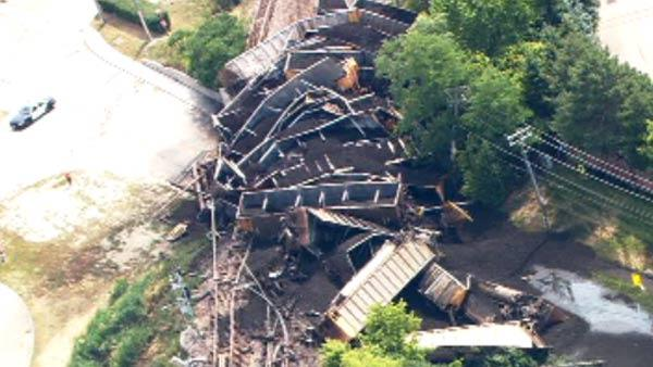 No injuries in freight train derailment