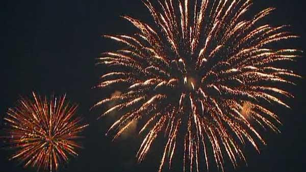 Chicago Fourth of July Fireworks 2012 -- Sped up video