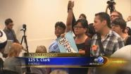 cps protesters at board meeting