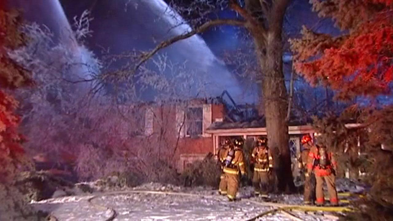 Fire destroys vacant Winnetka home