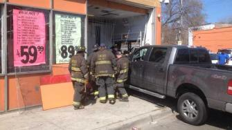 Truck into store at 71st and King.