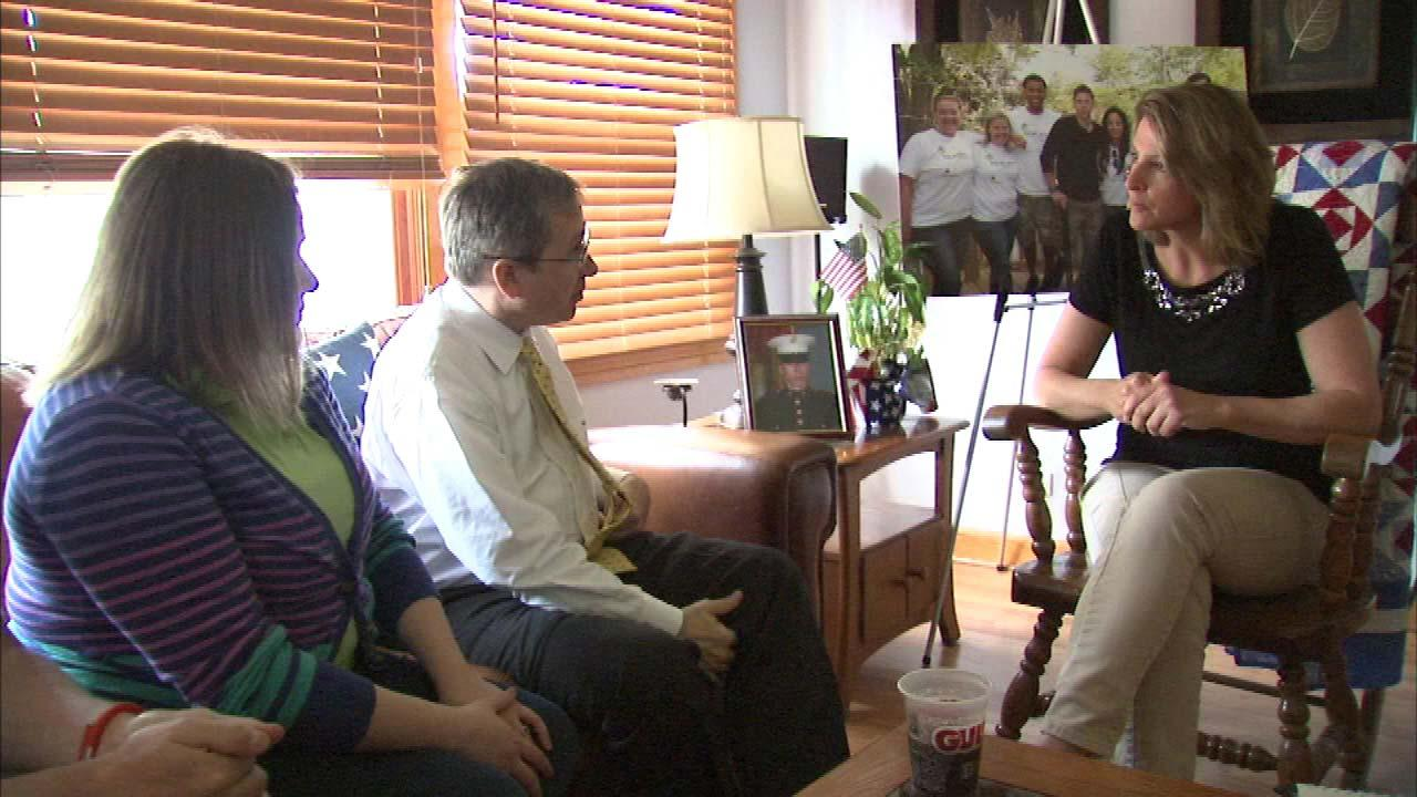 Senator Mark Kirk had a firsthand look at a newly refurbished home for a disabled vet  Saturday.